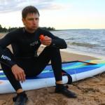 SUP Red Paddle в боевых условиях Петербурга