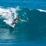 Катание на SUP по волнам