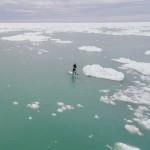 Падлбординг среди льдов