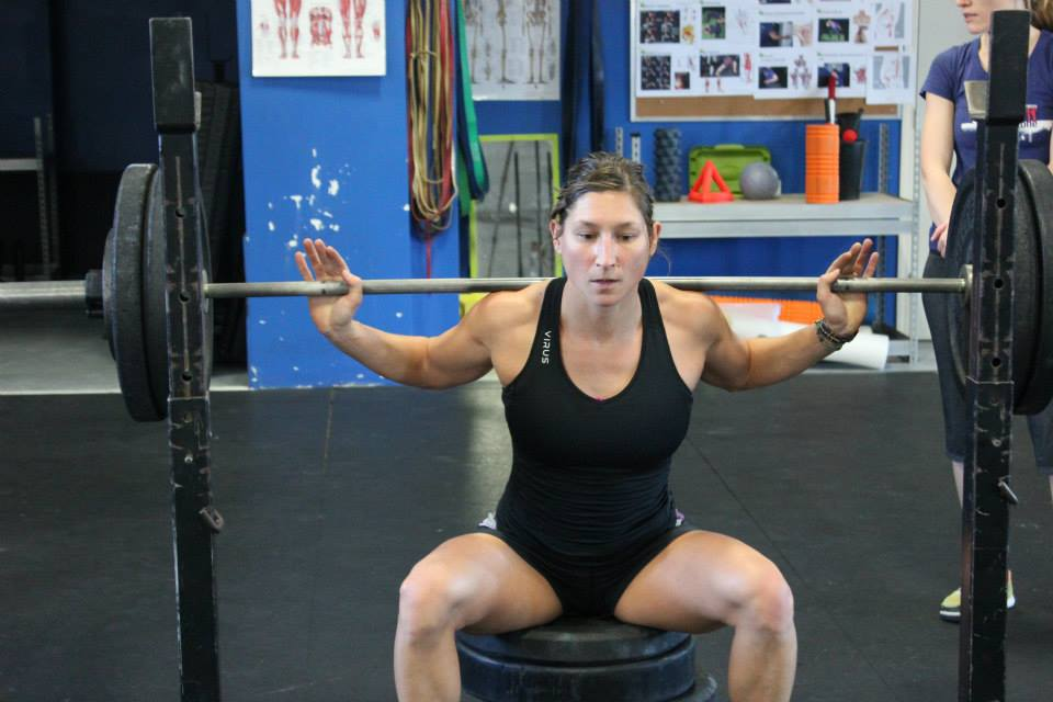 Lina-5_Lina-gets-in-a-heavy-set-of-box-squats-at-CrossFit-Vancouver_Credit-MadLab-School-of-Fitness