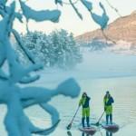 Смелое путешествие на сапах по заснеженной Норвегии
