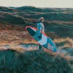 Холодный сап-серфинг в Дании