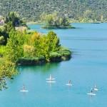Падлбординг на Бачинских озерах, Хорватия