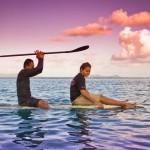 Сап-серф сессия на островах Фиджи