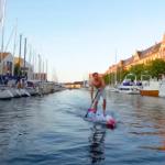 Падлбординг по каналам Копенгагена